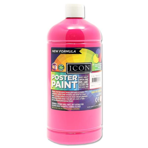 Icon Art 1ltr Poster Paint - Magenta