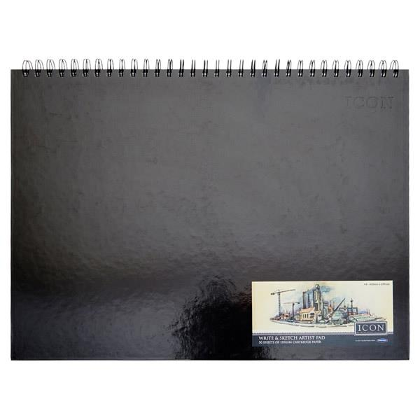 Icon A3 135gsm Wiro Hardcover Sketch Pad 50 Sheets