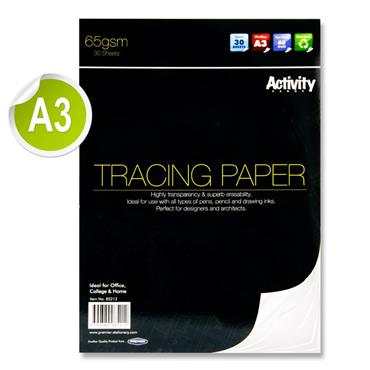 Premier Activity A3 65gsm Tracing Paper Pad 30 Sheets