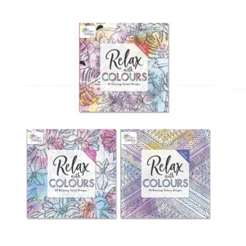 Colour Therapy Adult Colouring Books
