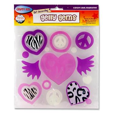 Crafty Bitz Gelly Gems - Hearts Mallow Cork