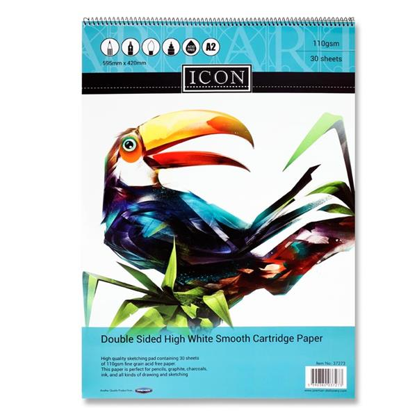 Icon A2 110gsm Spiral Sketch Pad 30 Sheets