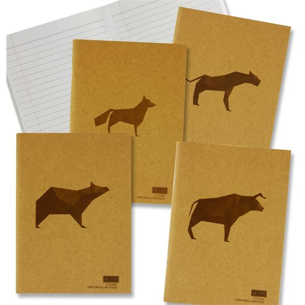 Icon A5 80Pg 110Gsm Kraft Notebook Book