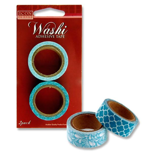 Icon Craft Card 2 Washi Adhesive Craft Tape - Blue
