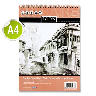 Icon A4 135gsm Wiro Sketch Pad 30 Sheets