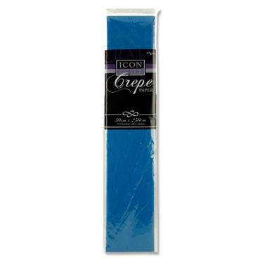 * Icon Craft 50x250cm 17gsm Crepe Paper - Dark Blue