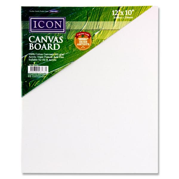 "Icon Canvas Board 265gm2 - 12""x10"""