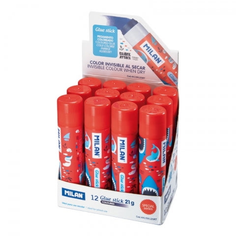 MILAN Shark Attack Colour Change Glue Stick Medium Blue