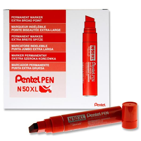 N50xl Jumbo Permanent Marker Chisel Tip - Red