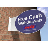 Oval Projecting Sign 400mm x 500mm