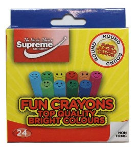 Supreme Stationery Fun Crayons 24 Pack