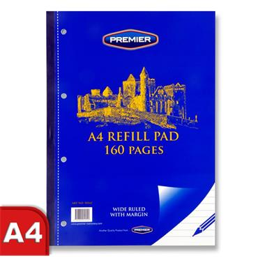 Premier A4 160pg Refill Pad - Side