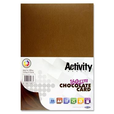 A4 160gsm Card 50 Sheets - Chocolate