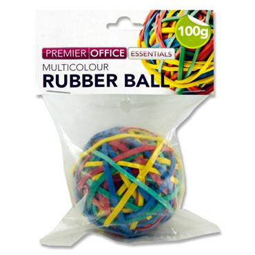 Rubber Ball Of Rubber Bands (mixed colours)