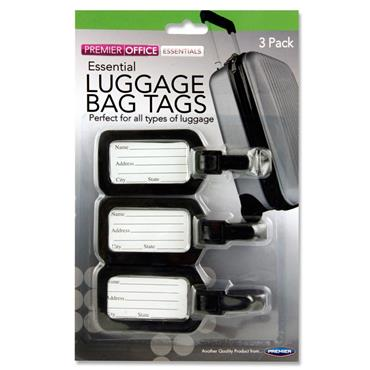 Premier Office Card 3 Luggage Bag Tags 3 Asst.