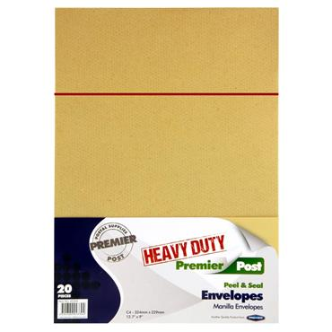 C4 Heavy Duty P+s Envelopes - Manilla