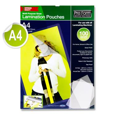 Pro:form A4 Pack 100 Laminating Pouches