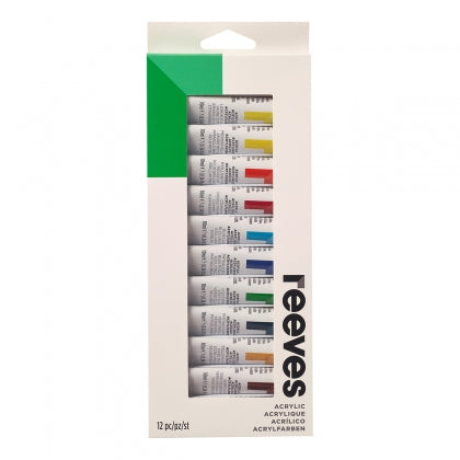 Reeves - Fine Acrylic 10ml - 12 Hang Pack