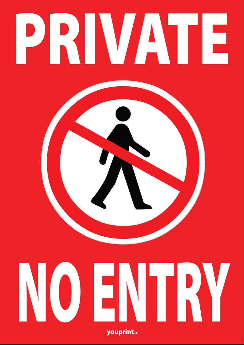Private - No Entry Sign