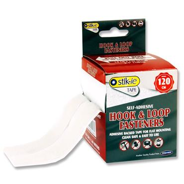 Stik-ie 4ft Roll Self-adhesive Hook And Loop Fastener