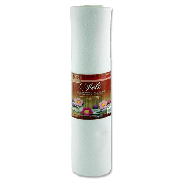 Icon Craft 45cm X 5m Roll Felt - White