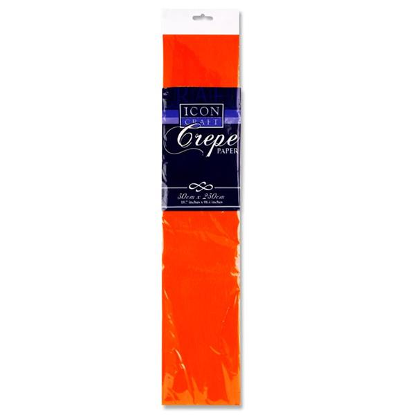 Icon Craft 50x250cm 17gsm Crepe Paper - Orange