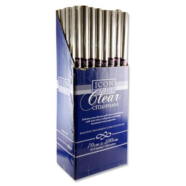 Icon Craft 3m X 70cm Roll Transparent Cellophane