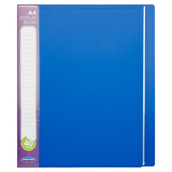 Pkt.3 A4 40 Pocket Display Book 3 Asst Bold