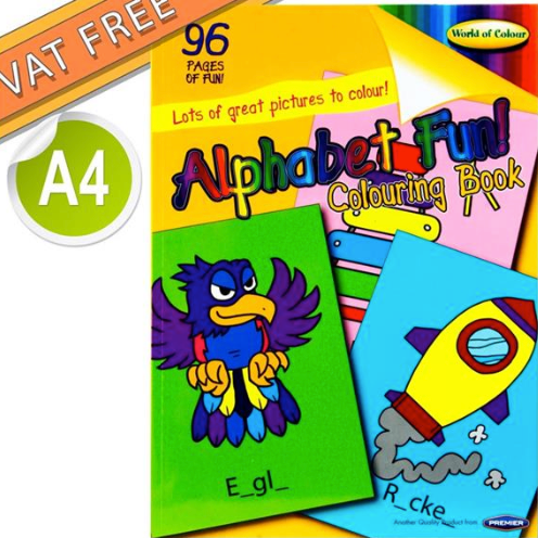 Alphabet Fun Perforated Colouring Book