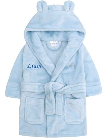 Personalised Kids Blue Dressing Gown