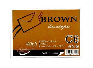 Brown C6 Envelopes
