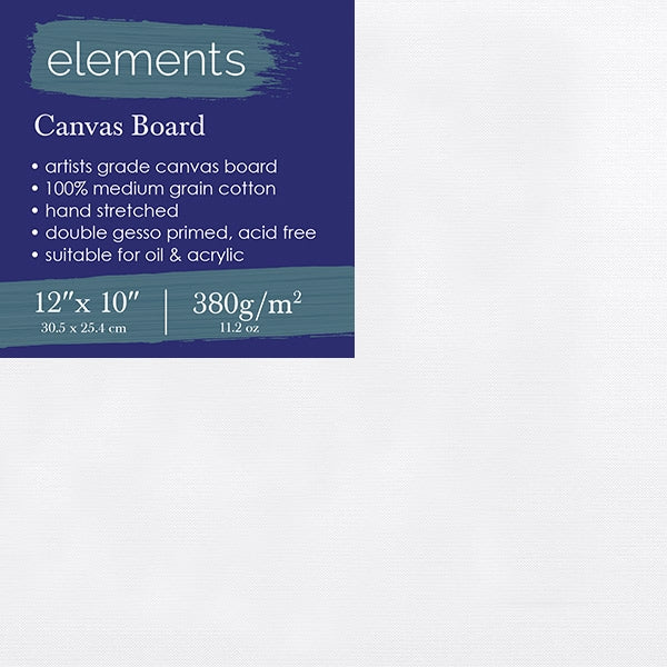 "Elements Canvas Board 12"" x 10"" (30.5 x 25.4cm)"
