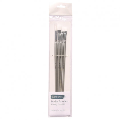 Elements Studio Brush - Set of 4 Long Handle