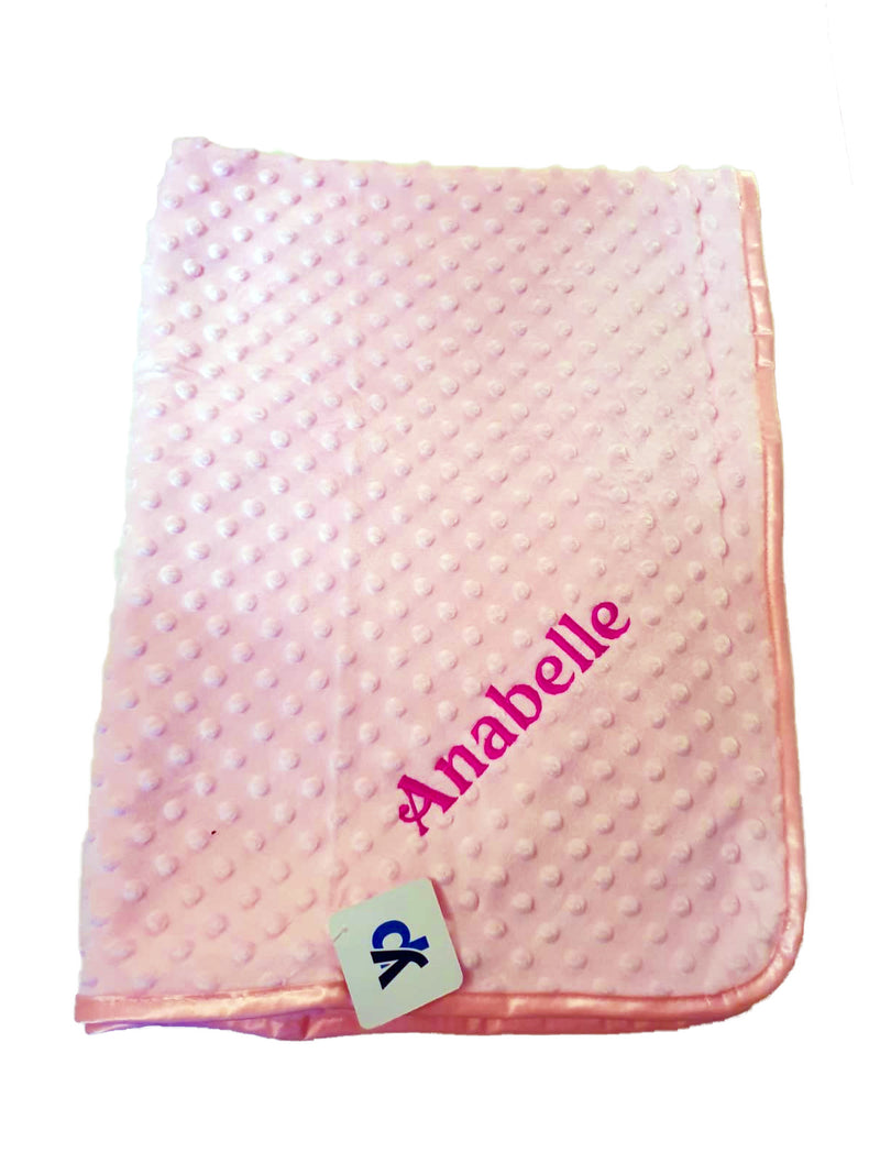 Personalised Pink Dimple Blanket