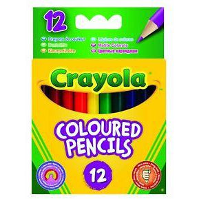 half length colouring pencils 12 pack mallow cork