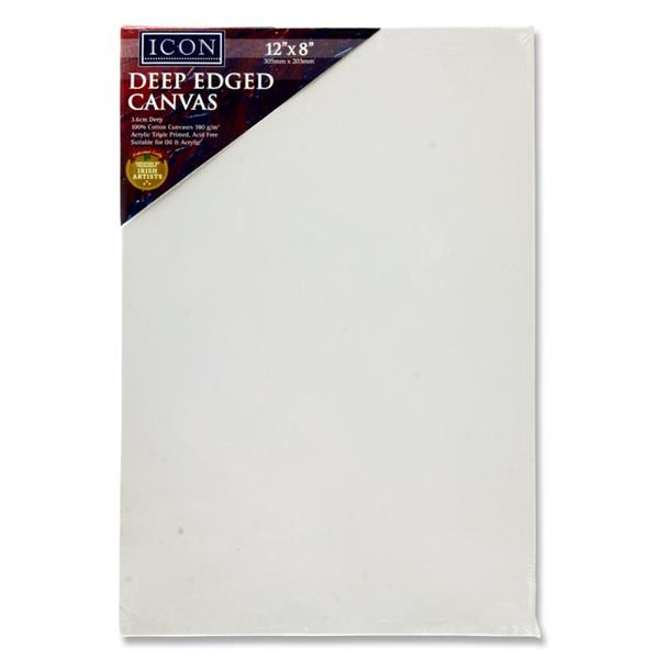 "Icon Deep Edged Canvas 380gm2 - 12""x 8"""
