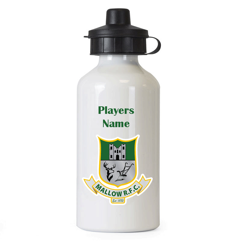 Mallow Rugby Club Water Bottle with Name