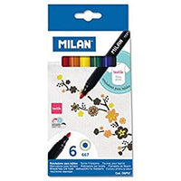 milan textile fibrepens colour 6 pack mallow cork