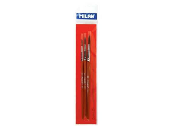 Milan set of 3 101 Series Brushes, Sizes 6,8 & 10
