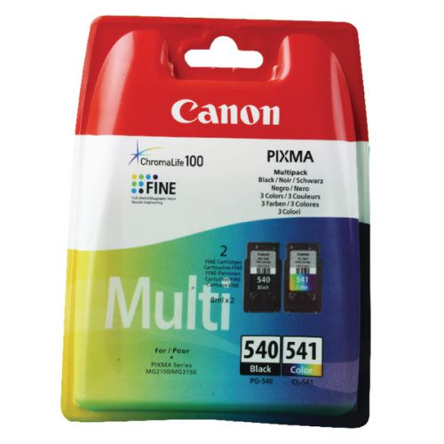 540 & 541 Canon Pixma Ink (Multipack)