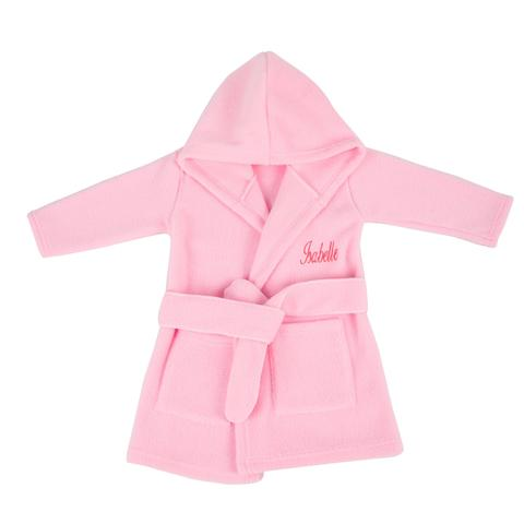 Personalised Kids Pink Dressing Gown