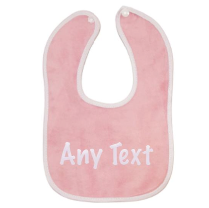 Personalised Pink Embroidered Baby Bib