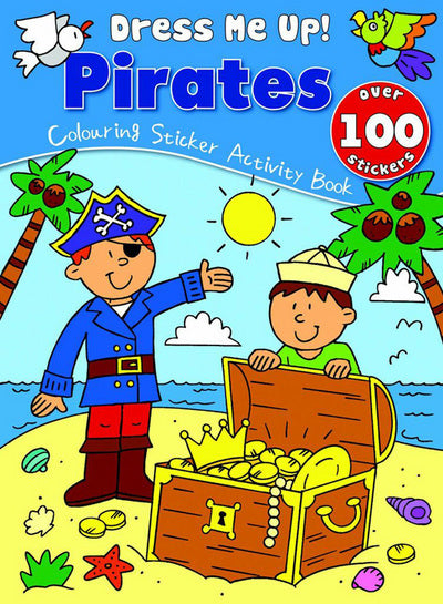 Pirate Colouring and Sticker Book