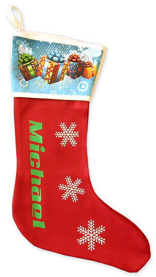 Printed Christmas Stocking
