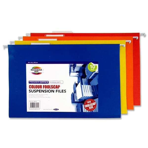 Colour Foolscap Suspension Files