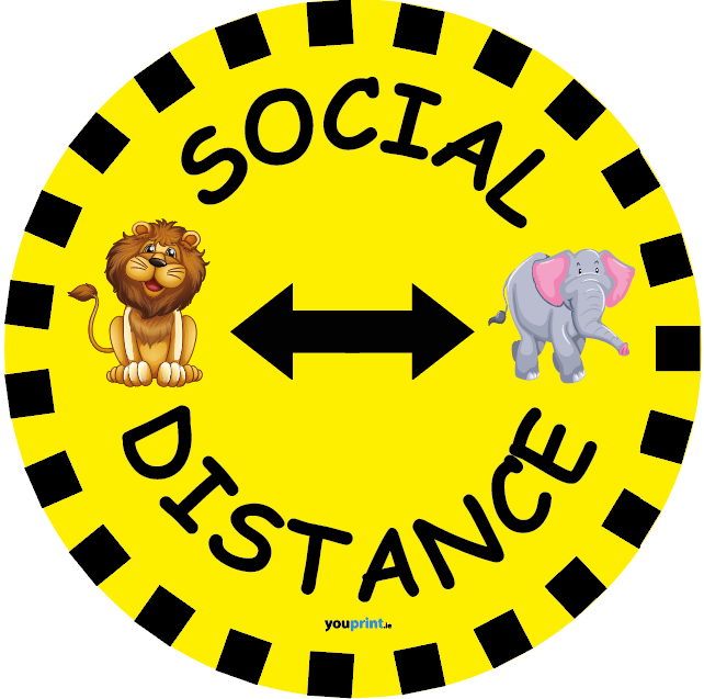 Tiger and Elephant Waiting Spot Floor Decal