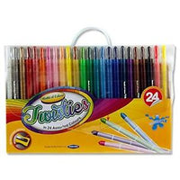 twisties 24 pack washable crayons world of color mallow cork