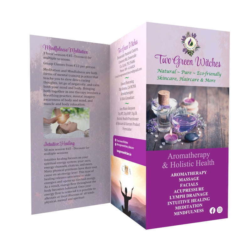 500 x A4 Folded Flyers 170gsm gloss (Professional Designed)