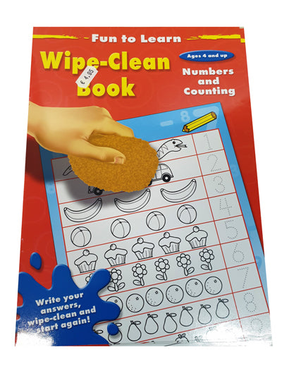 Wipe and Clean book - Numbers and Counting