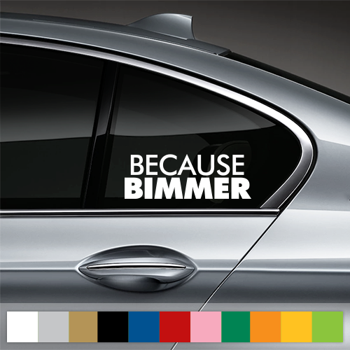Because BIMMER Window Decal